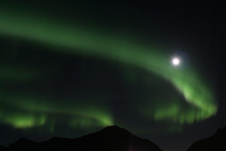 Europe, Europa, Norway, Norwegen, Lofoten, Ramberg, Island, Insel, Northern Light, Polarlicht, Water, Wasser, Hans-Joachim Eggert