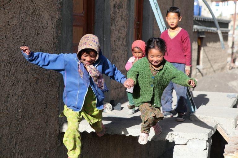 Asia, Asien, India, Himachal Pradesh, Kibber, Portrait, Children, Kinder, Village, Dorf, Hans-Joachim Eggert