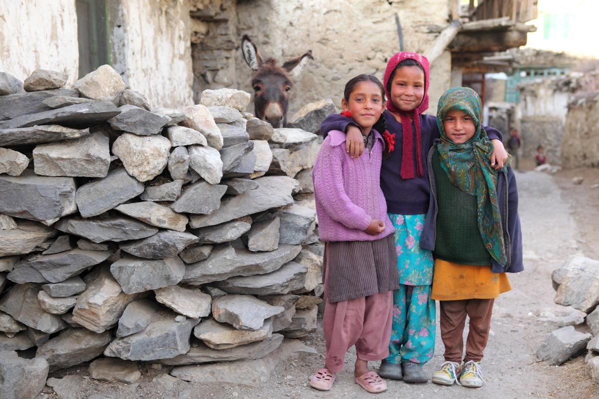 Asia, Asien, India, Himachal Pradesh, Nako, Portrait, Children, Kinder, Dorf, Hans-Joachim Eggert