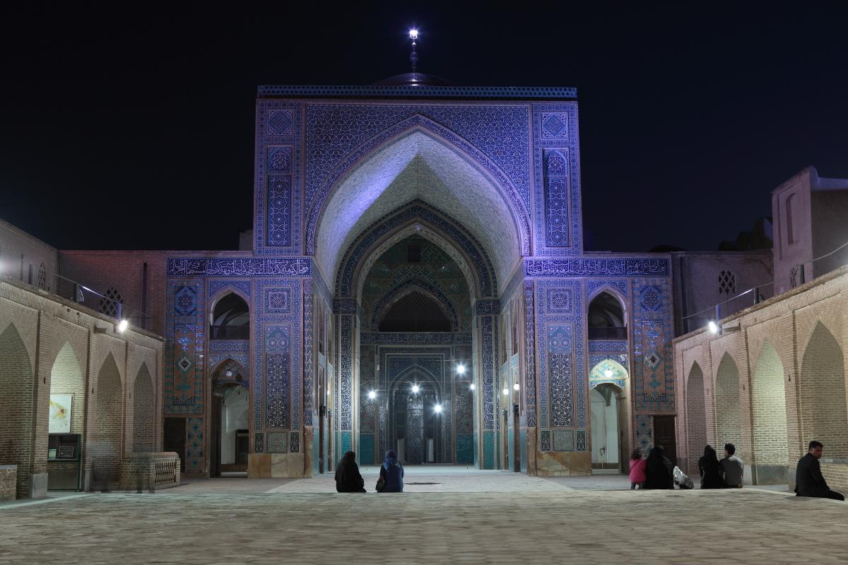 West Asia, Vorderasien, Asien, Iran, Yazd, Jameh Mosque, Moschee, People, Evening, Abend, Hans-Joachim Eggert
