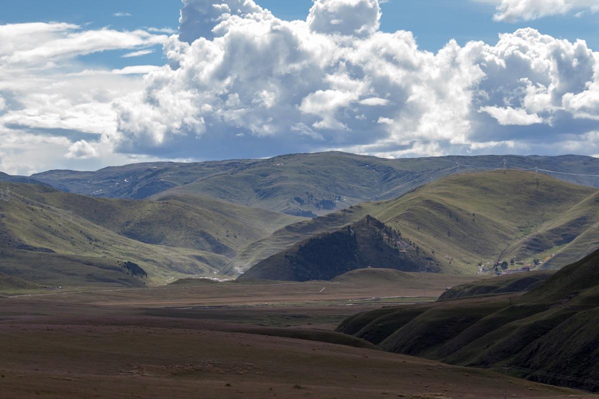 Ausblick von Ani Gompa Tagong - Autonome Präfektur Garzê Tibet - China