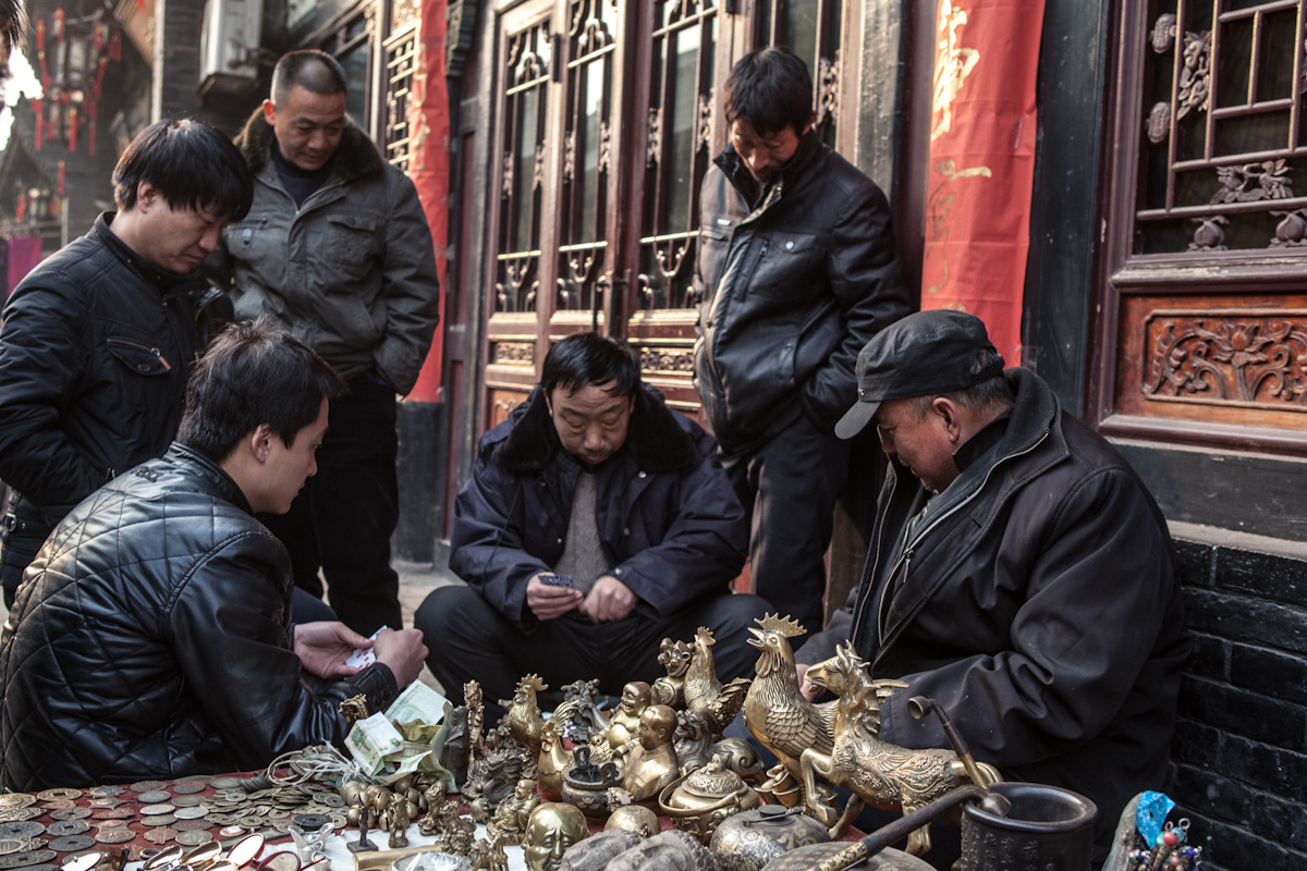 Kartenspiel Pingyao Shanxi China