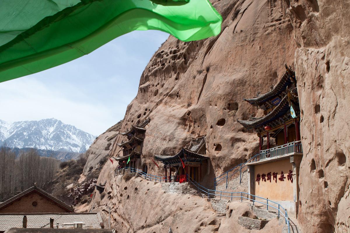 Bhuddistische Höhlentempel Matisi-Grotten - Matixiang bei Zhangye - Gansu - China