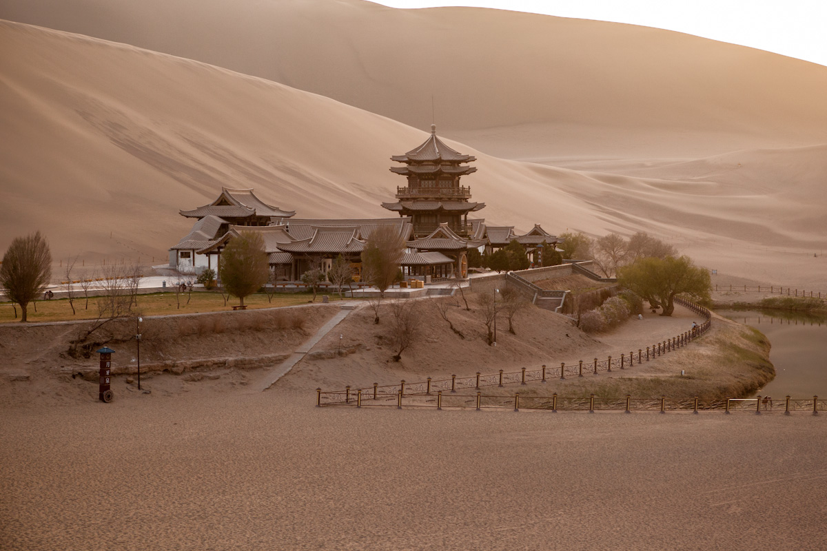 Asia, Asien, China, Gansu, Dunhuang, Crescent Lake, Mondsichelsee Yueyaquan Taklamakan Desert, Wüste, Hans-Joachim Eggert