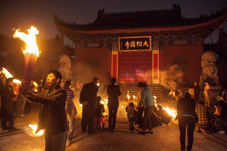 Abendgebet in Kaifeng - Henan - China