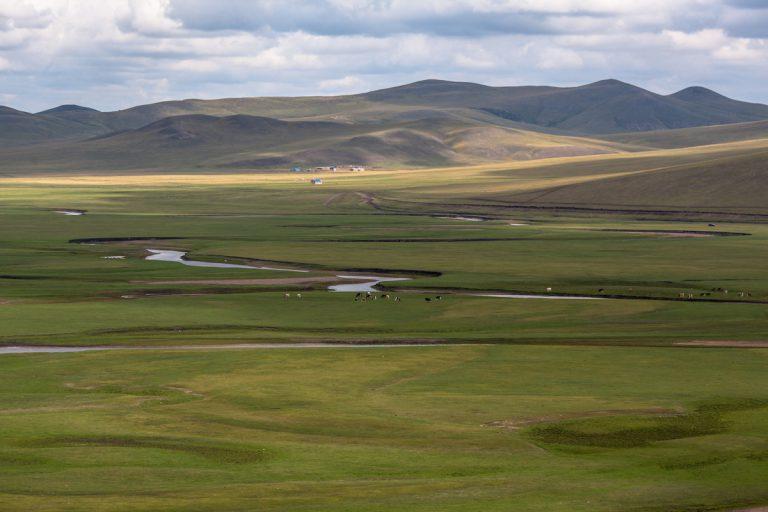 Die Hulun Buir Grasslands sind geprägt von weiten Wiesen, Flüssen und großer Pflanzenvielfalt. Zwischen den Flussläufen grasen freilaufende Kühe, und am Ende der großen Ebene stehen nur wenige Häuser, die dünn besiedelt ist. Die Hulun Buir Grasslands liegen im äußersten Nordosten der Inneren Mongolei, in der Umgebung von Ergun. Hulun Buir Grasslands - Innere Mongolei - China