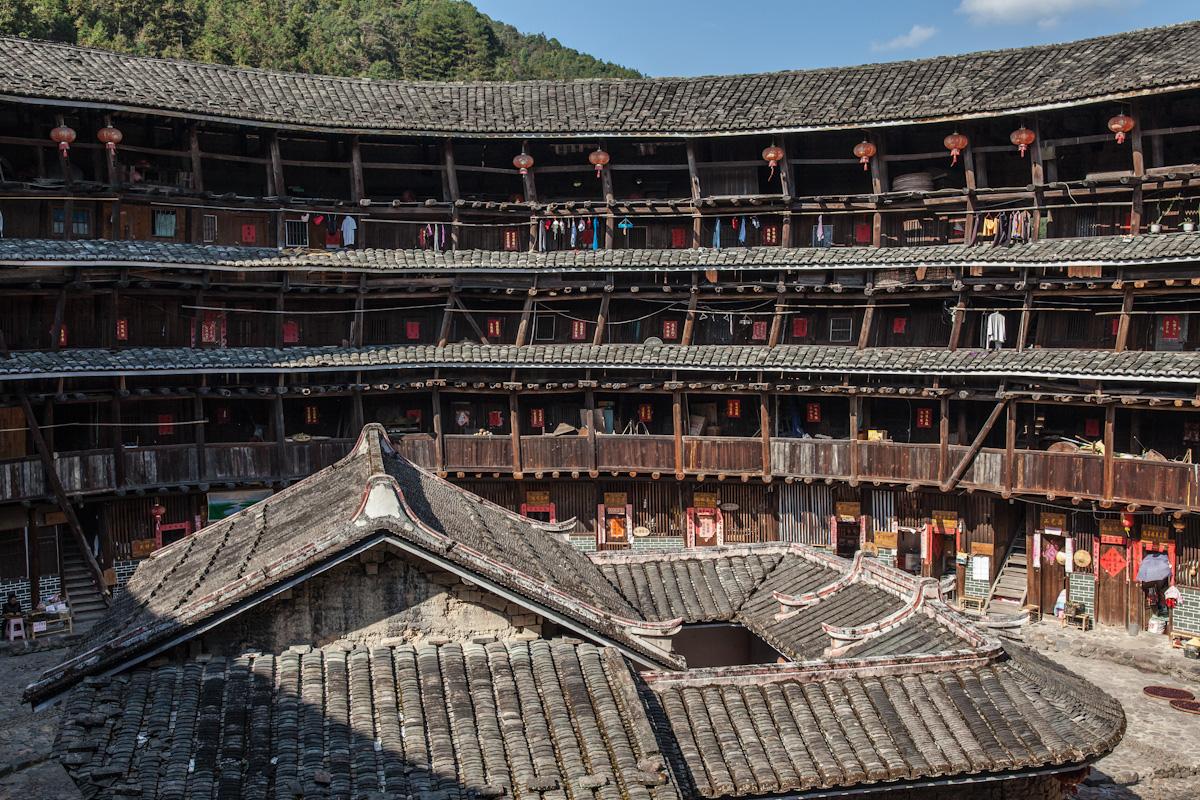 Innenhof eines Tolou in Tianluokeng - Fujian - China