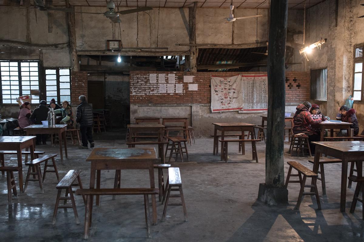 Gemeinderaum im Dorf Aiye bei Zigong - Sichuan - China