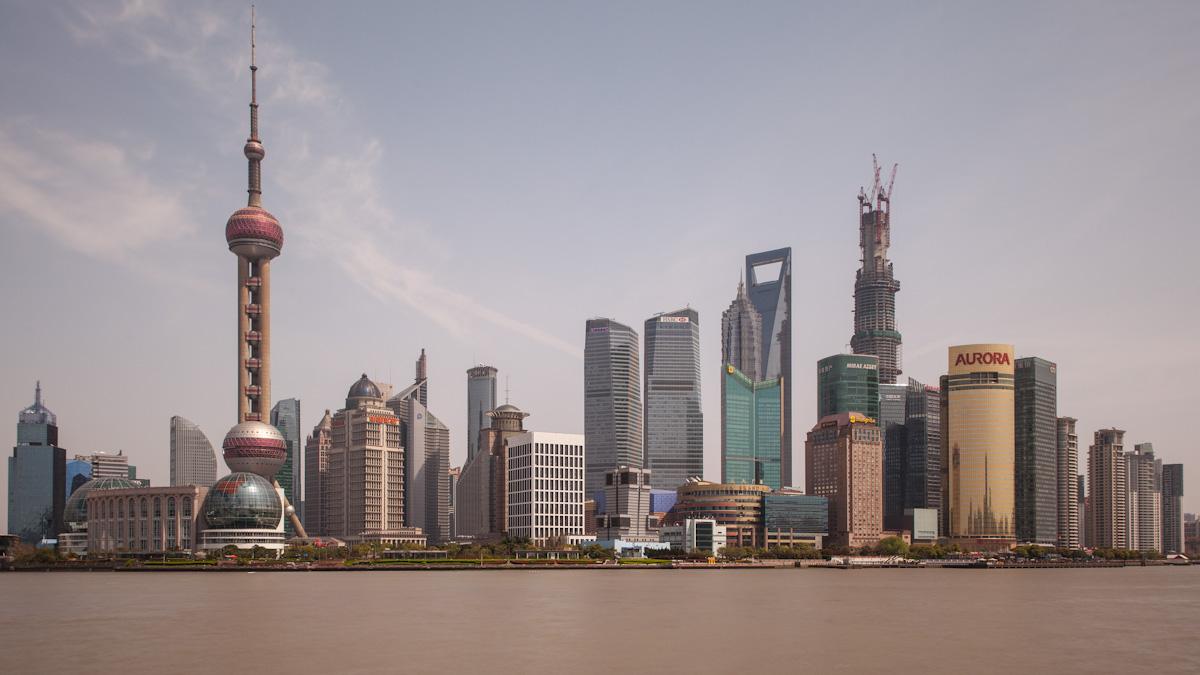 Asia, Asien, China, Hongpu River, Pudong, Shanghai, The Bund, Water, Wasser, Huangpu River, Huangpu Fluss, Hans-Joachim Eggert
