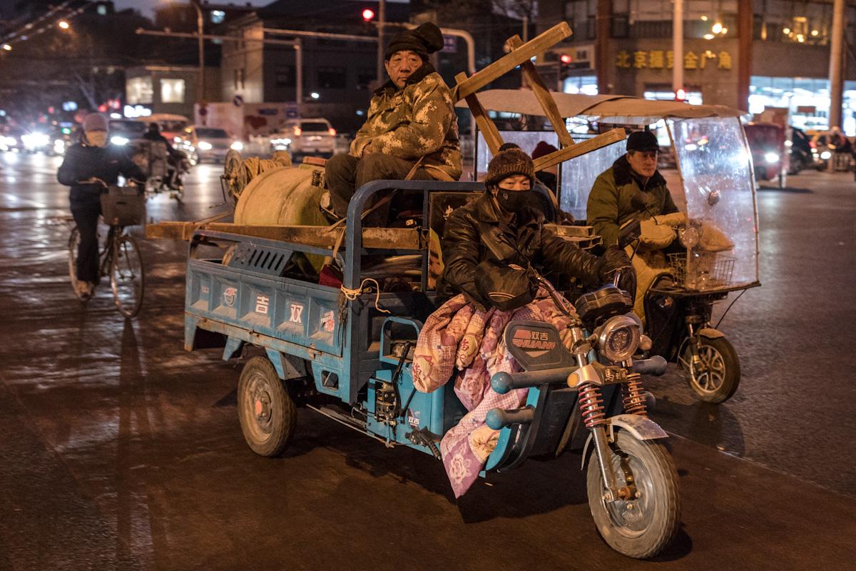 Berufsverkehr am Abend in Peking - China