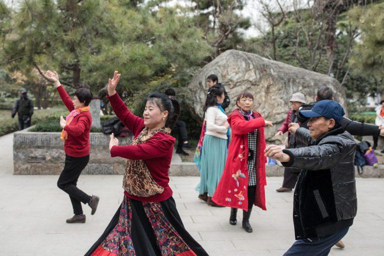 Tanz im Lianhu Park. Xi'an - Shaanxi - China