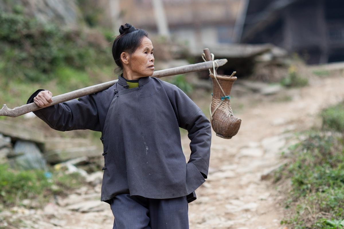Asia, Asien, China, Guizhou, Jitang, Jitangshangzhaicun, Woman, Frau, work, Arbeit, Village, Dorf, Hans-Joachim Eggert
