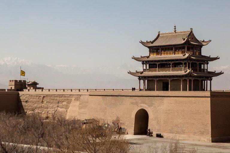 Das Jiayuguan-Fort stellt zugleich das westliche Ende der Großen Mauer dar. Jiayuguan - Gansu - China