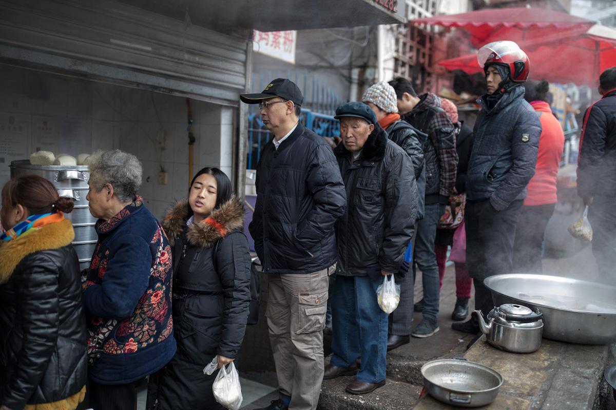 Hefeklöße Baozi Mantou Humbao Hum Bao Dampfbrötchen Guiyang Guizhou China