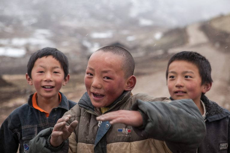 Asia, Asien, China, Gansu, Langmusi, People, Portrait, Children, Kinder, Hans-Joachim Eggert