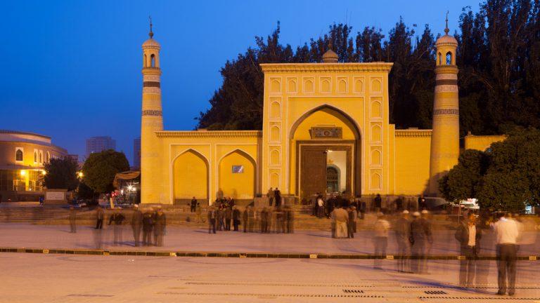 Asia, Asien, China, Xinjiang, Kashgar, Kashi, Id Kah Mosque, Heytgah Moschee, Hans-Joachim Eggert