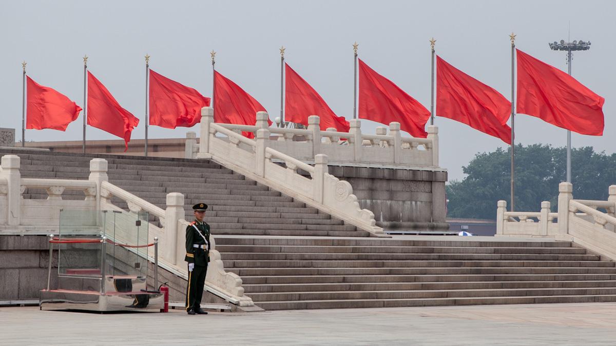 Asia, Asien, China, Beijing, Peking, Men, Mann, Soldier, Soldat, Tiananmen Square, Tiananmen-Platz, Hans-Joachim Eggert