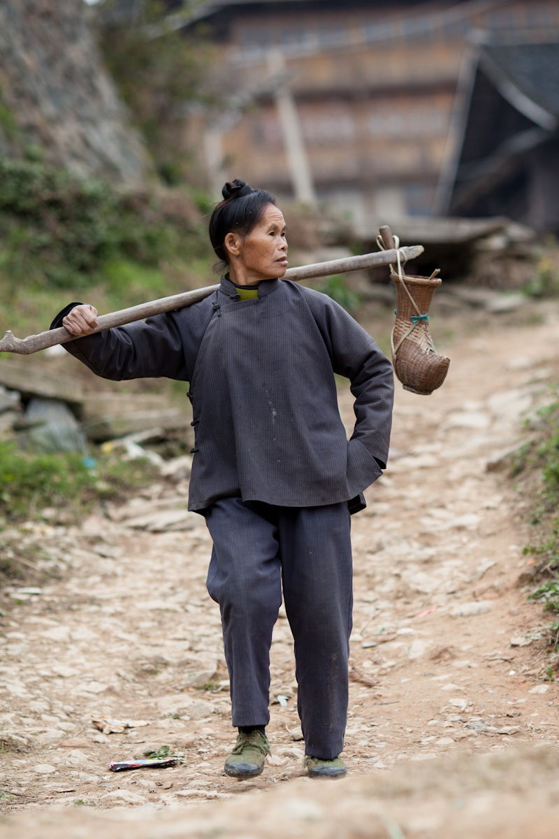 Asia, Asien, China, Guizhou, Jitang, Jitangshangzhaicun Woman, Frau, work, Arbeit, Village, Dorf, Hans-Joachim Eggert