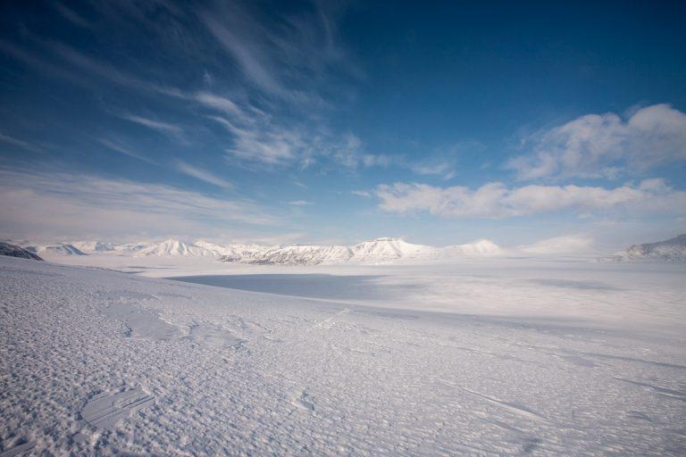 arktis arctic spitzbergen svalbard billefjord nordenskiöldbreen gletscher glacier winter snow schnee