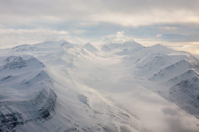 arktis arctic spitzbergen svalbard Linnedalen winter schnee snow