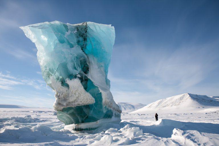 Arctic Arktis Svalbard Spitzbergen Iceberg Eisberg Ice Eis Snow Schnee Eastcoast Ostküste Storfjord Sabine-Land