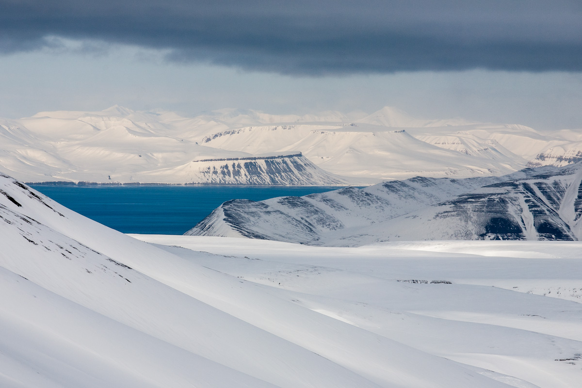 Arctic Arktis Svalbard Spitzbergen Platåberget Kapp Thordsen icefjord Mountain Berg Ice Eis Snow Schnee winter