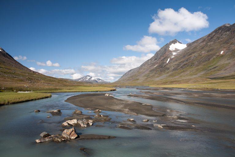 Skandinavien Scandinavia Schweden Sweden Sarek Nationalpark Wanderung im Tal Ruothesvagge